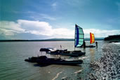 BSD Batwing Sport and Expedition sails on kayak at the start of the Everglades Challenge
