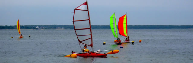 BSD kayak sail rigs  sailing int the Hamptons